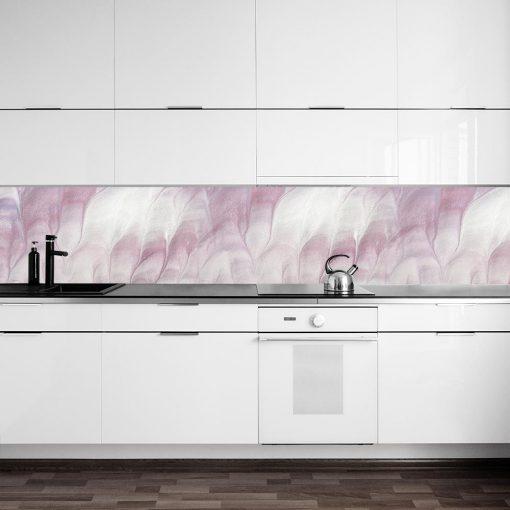 fototapeta do kuchni z różową abstrakcją