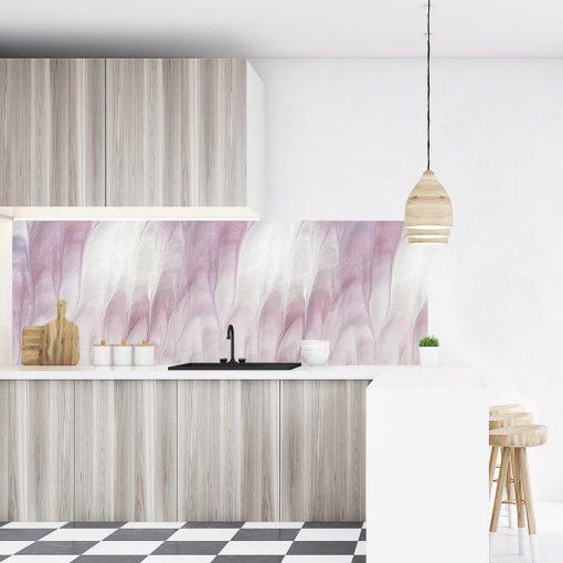 fototapeta kuchenna z różowym wzorem