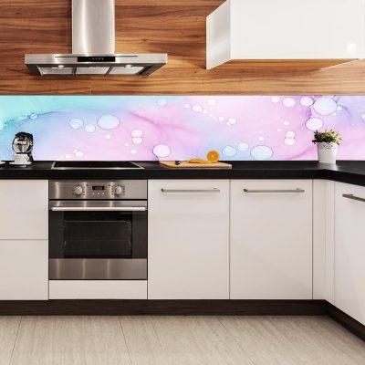 fototapeta z motywem ozdobnych plam na ścianę do kuchni