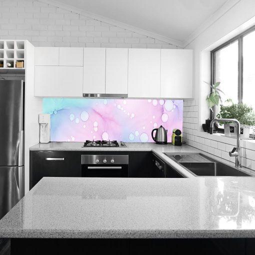 fototapeta kuchenna przedstawiająca kolorową abstrakcją