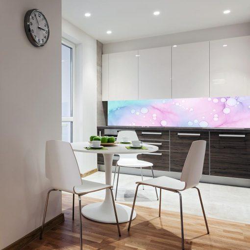 fototapeta do kuchni z kolorowymi plamami