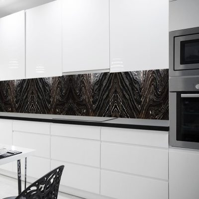 fototapeta z motywem ciemnego wzoru do kuchni