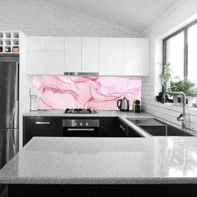 fototapeta do kuchni z motywem różowego wzoru