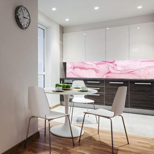 fototapeta do kuchni z różowym wzorem