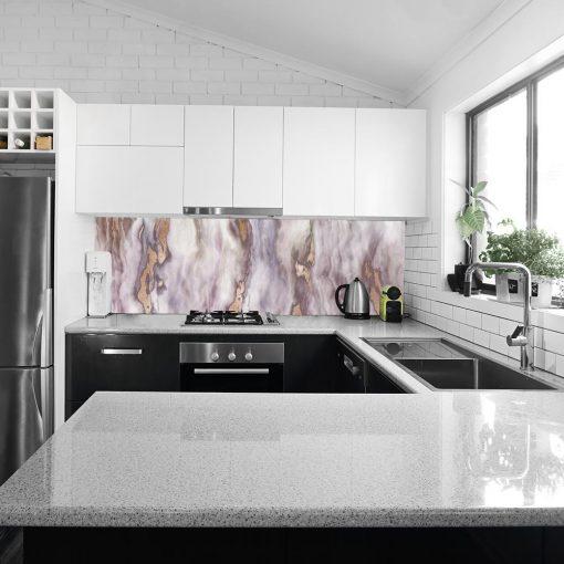 fototapeta kuchenna z marmurkowym wzorem