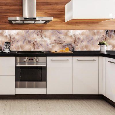 fototapeta do kuchni z brązowym marmurem