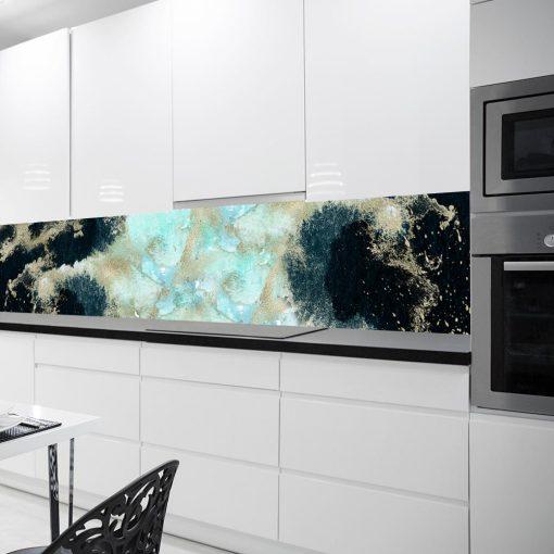 fototapeta z motywem abstrakcji do kuchni