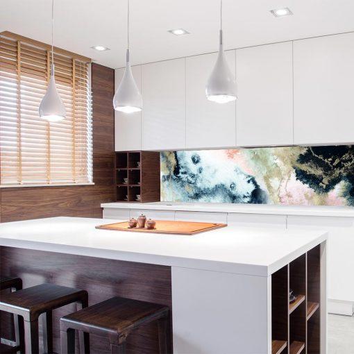 tapeta do kuchni z kolorową abstrakcją