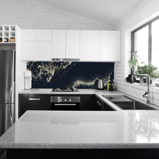 tapeta kuchenna z motywem abstrakcji