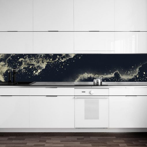 fototapeta do kuchni z ciemną abstrakcją