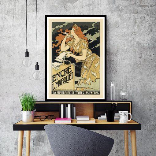plakat w stylu secesyjnym