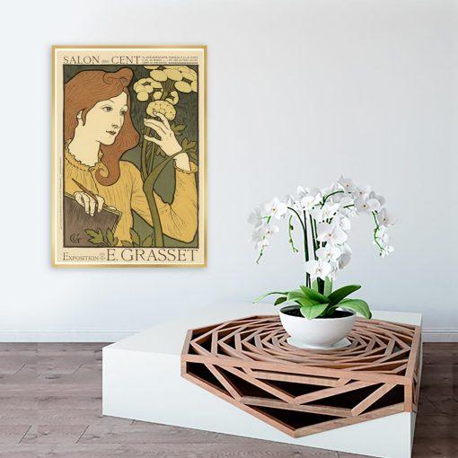 plakat vintage z kobietą