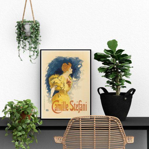 plakat vintage kobieta