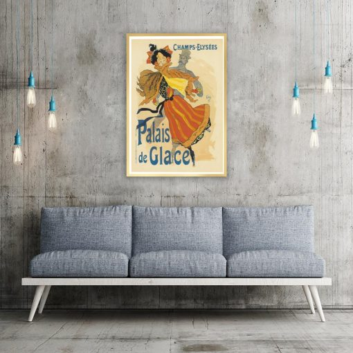 plakat kobieta w pomarańczowej sukni