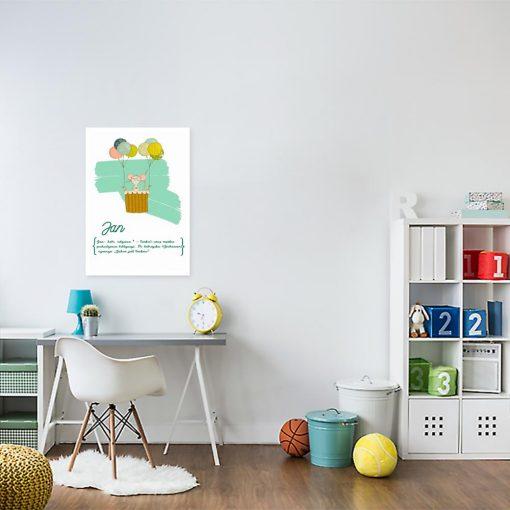 plakat dziecięcy imię dziecka