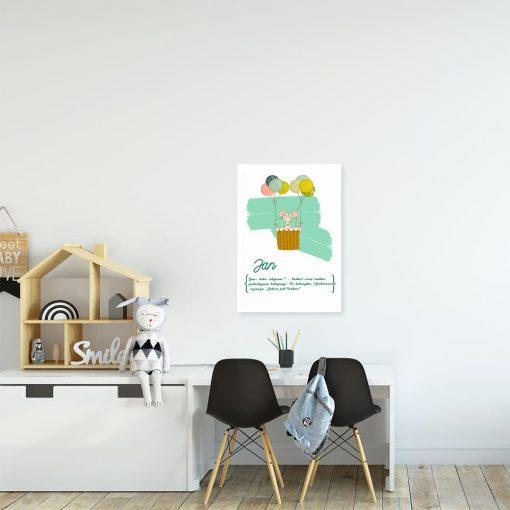 plakat myszka i geneza imienia dziecka