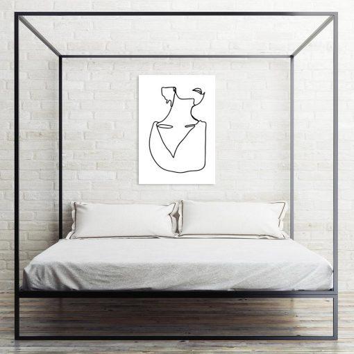 minimalistyczny plakat z kobietą