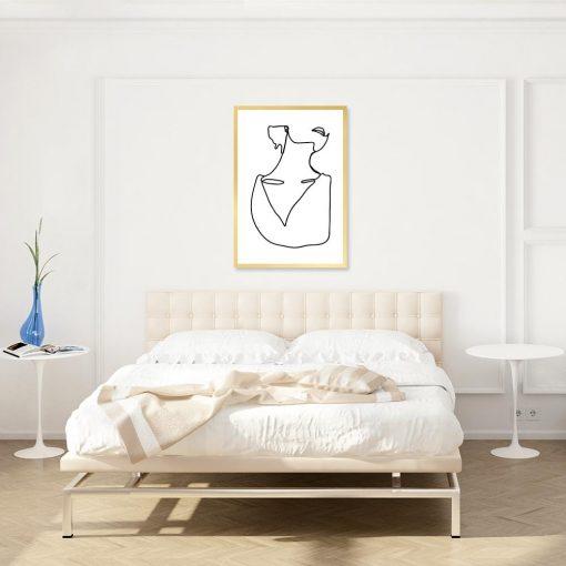 plakat line art kobiety