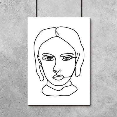 plakat z portretem kobiety