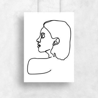plakat szkic kobiety