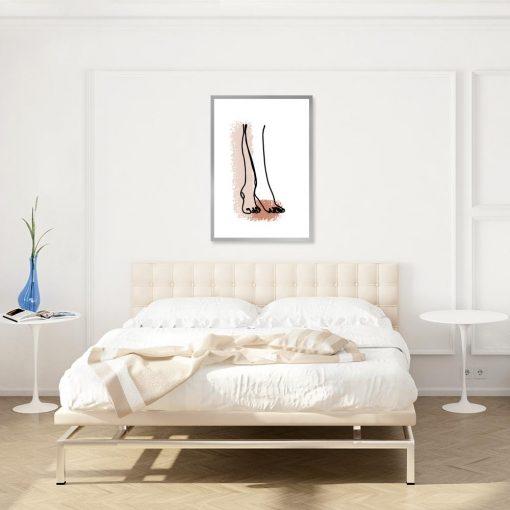 plakat rysunek kobiecych stóp