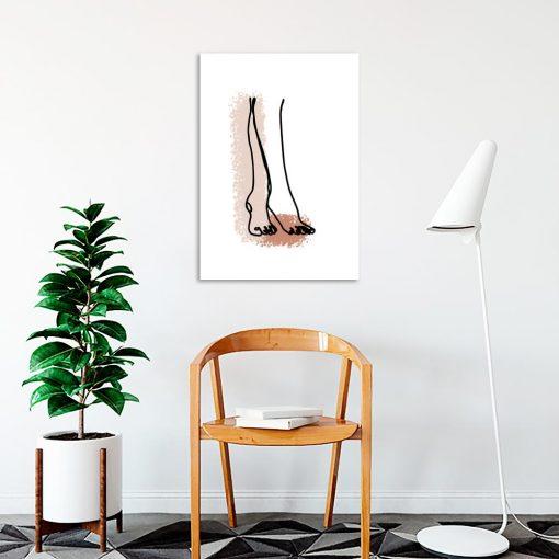 plakat kobiece nogi