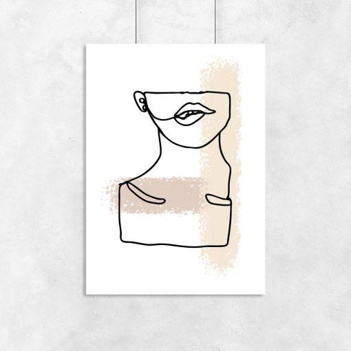 plakat kobieca szyja