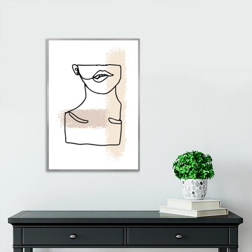 plakat z motywem kobiecej szyi
