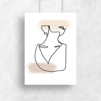 plakat kobieta i ślady pędzla