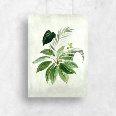 plakat zielony