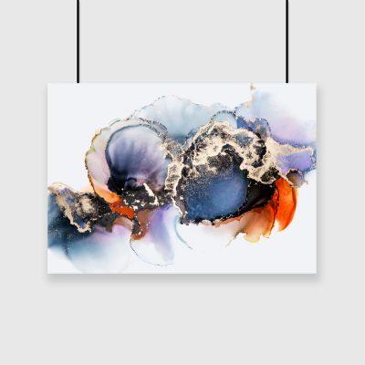 plakat granatowa abstrakcja