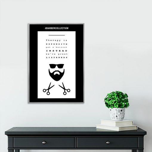 plakat z motywem barbera