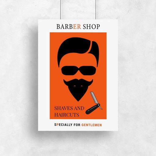 plakat pomarańczowy z mężczyzną i napisem