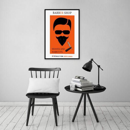 plakat z napisem barber shop