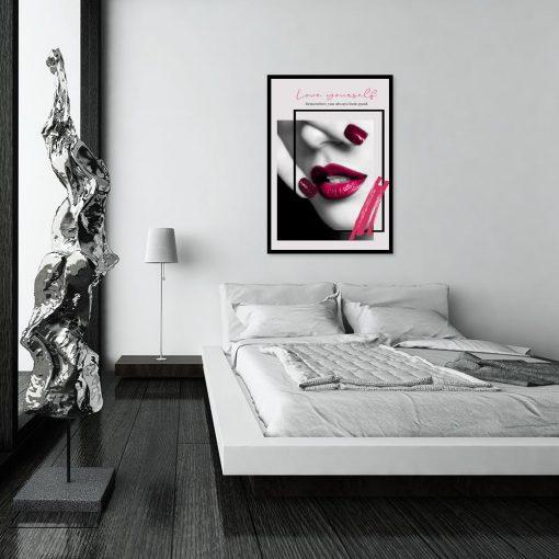 plakat z motywem kobiecych ust