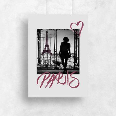 plakat przedstawiający paryż