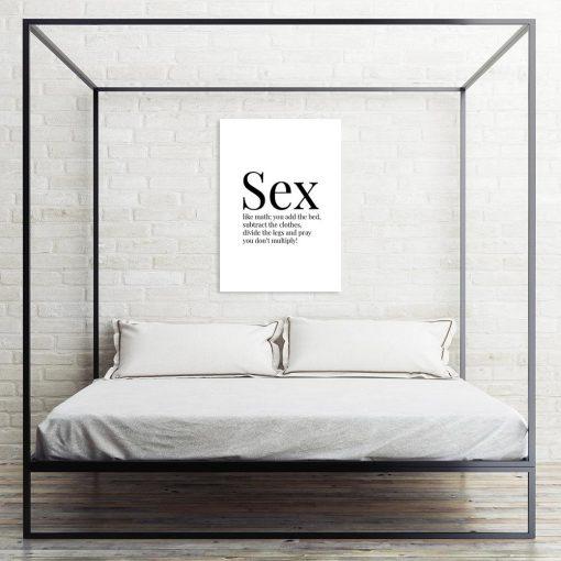 plakat z napisem sex like math