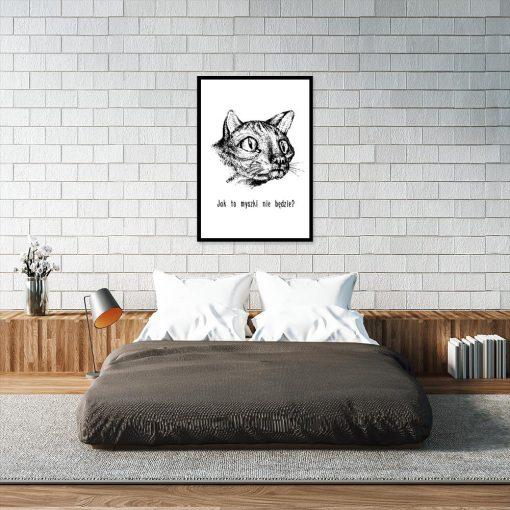 plakat z motywem kota