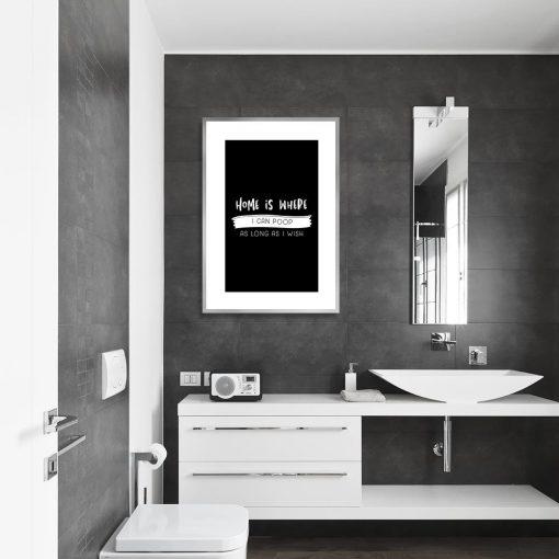 plakat łazienkowy z napisem