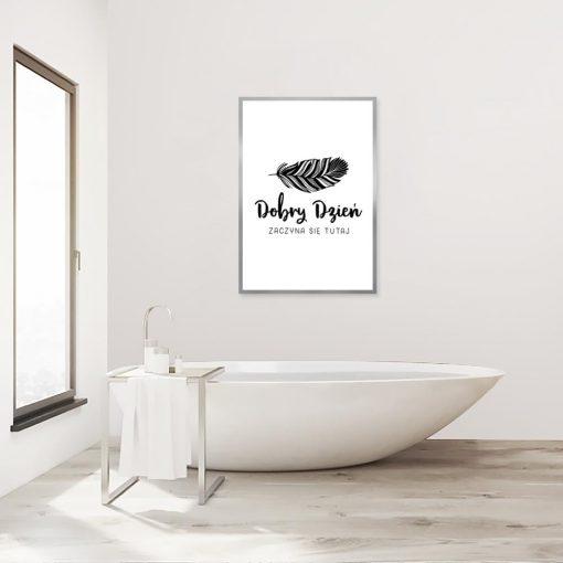 plakat łazienkowy z typografią