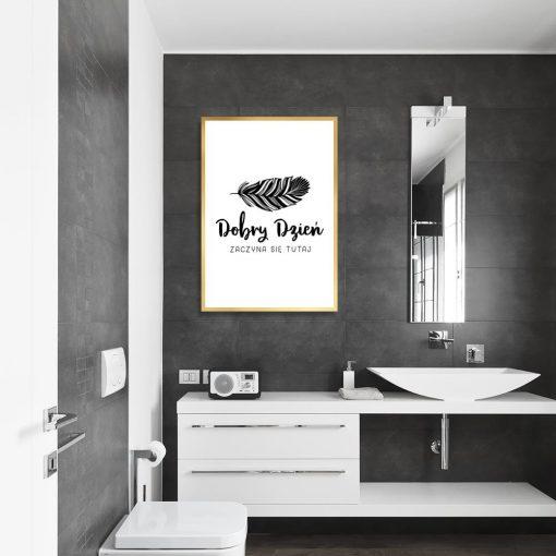 plakat typograficzny do łazienki