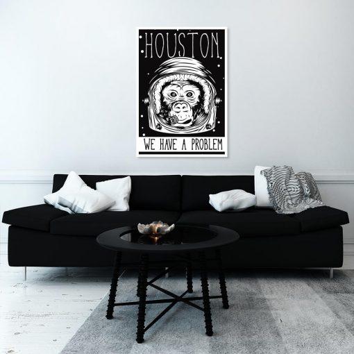 plakat do salonu z motywem kosmonauty