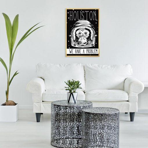 plakat z motywem małpy do salonu