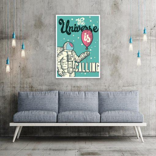 plakat z ilustracją kosmonauty