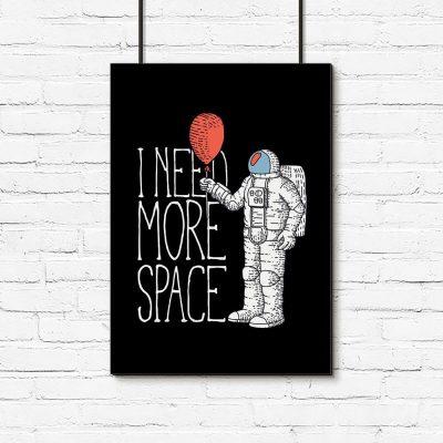 plakat przedstawiający kosmonautę