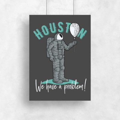 plakat przedstawiający astronautę