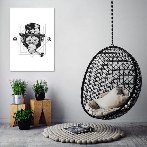 plakat z cyrkową małpą