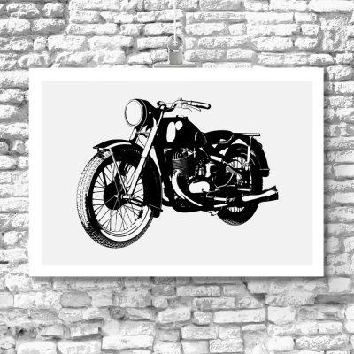plakat dla fanów motocykli