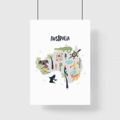 plakat z Australią