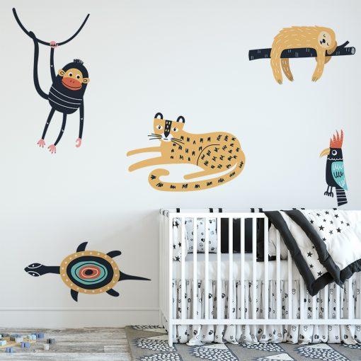 naklejka z motywem zwierząt do pokoju dziecka